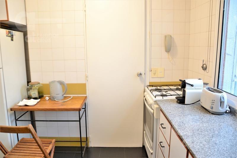 las cañitas. departamento 2 ambientes con balcón. alquiler temporario sin garantías.