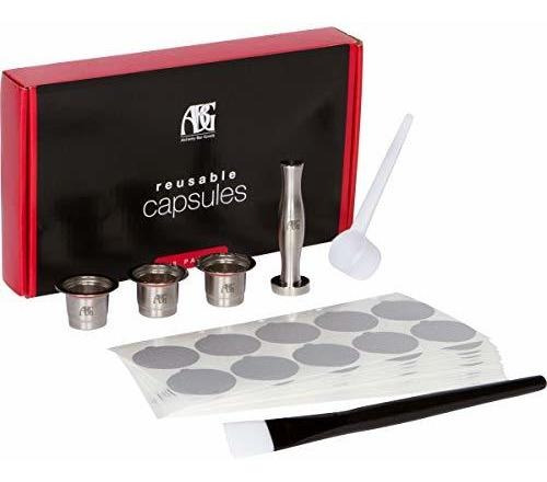 las capsulas de nespresso reutilizables contienen 3 vainas r