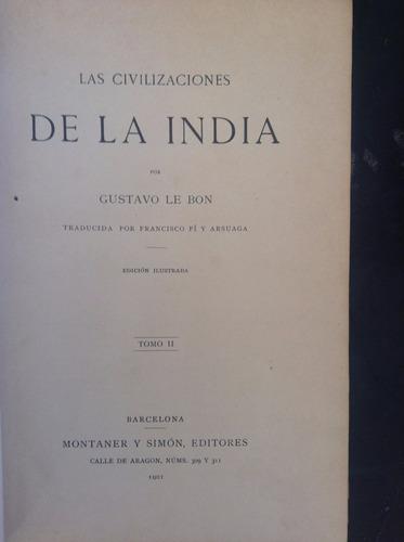 las civilizaciones de la india - tomo 2 gustavo le bon