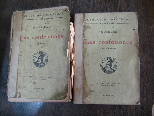 las confesiones. rousseau. 2 tomos.