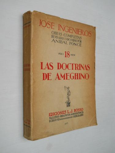 las doctrinas de ameghino - josé ingenieros