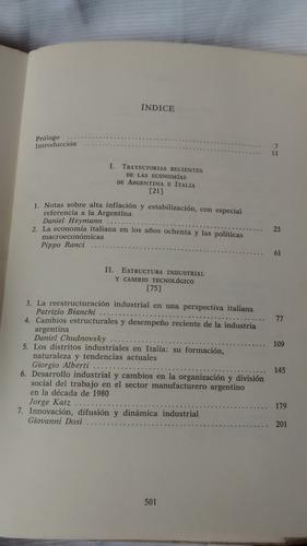 las economias de argentina e italia fce - chudnovsky - bello