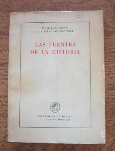 las fuentes de la historia, cassini / pérez amuchástegui,