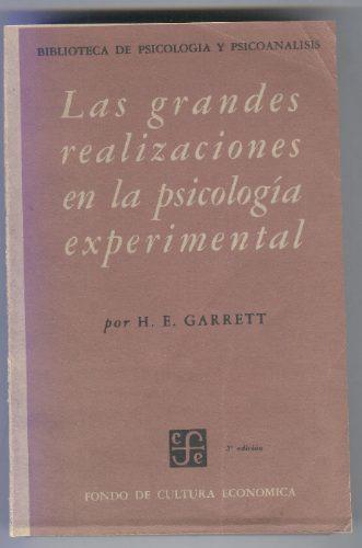 las grandes realizaciones de la psicología experimental