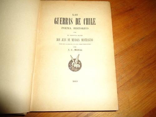 las guerras de chile poema historico