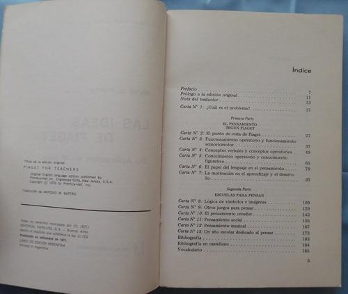 las ideas de piaget- hans g. furth- ed. kapelusz- educación
