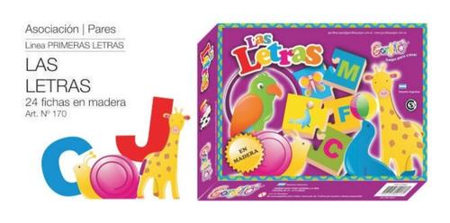 las letras asociación pares en madera gordillo, diverti toys