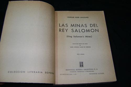 las minas del rey salomón - h. rider haggard