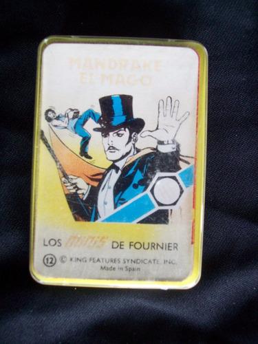 las minis cartas de fournier  mandrake el mago.1978