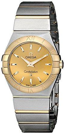 las mujeres de omega  champagne dial reloj constelación