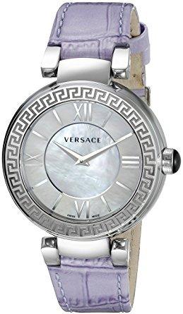 las mujeres de versace display vnc leda analógico reloj de