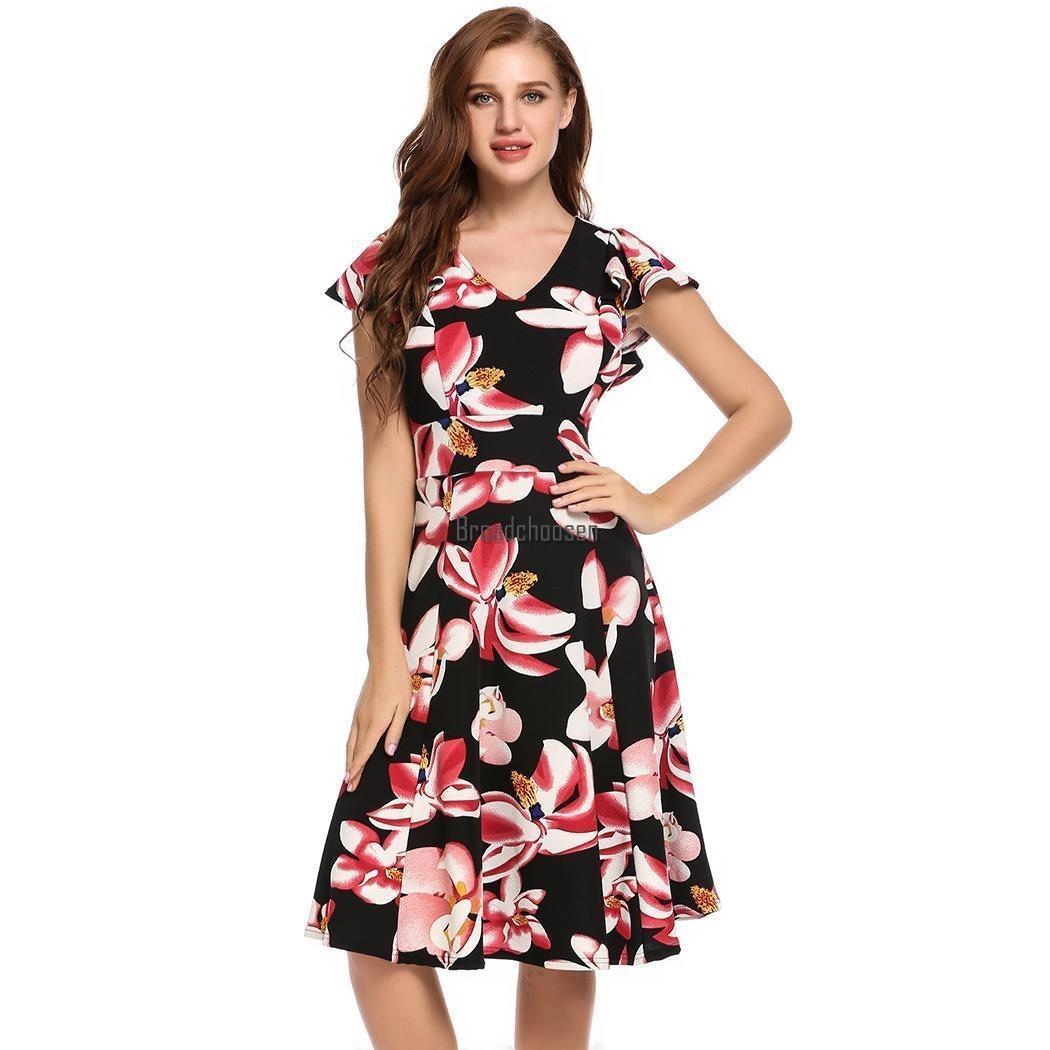 d53f601e4 Las Mujeres Vestido Mariposa Estampado Floral De Manga   -   171.990 en  Mercado Libre