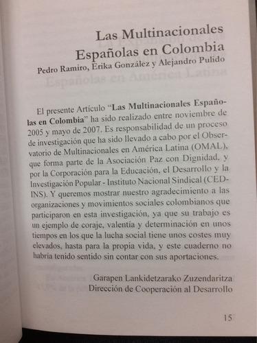 las multinacionales españolas en colombia - p. ramiro - fica