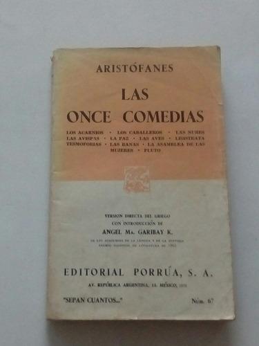 las once comedias - aristófanes.