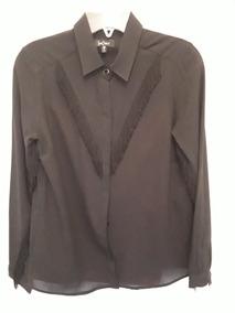 894d7658c Camisa Blusa Negra Con Flecos Camisas Chombas Blusas Mujer - Ropa y ...