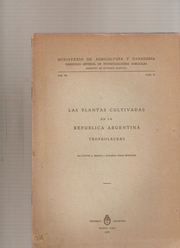 las plantas cultivadas en argentina