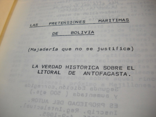 las pretensiones maritimas de bolivia. vicente casanueva