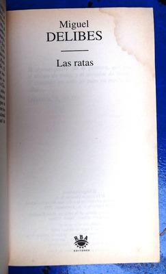 las ratas por miguel delibes.