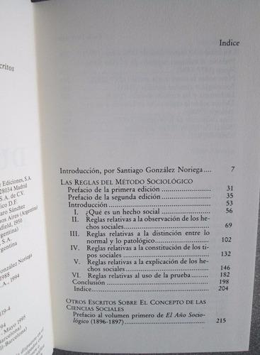 las reglas del método sociológico - emile durkheim / altaya