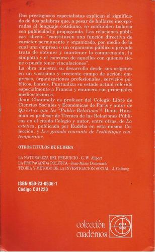 las relaciones públicas.-.jean chaumely / denis husman.-.