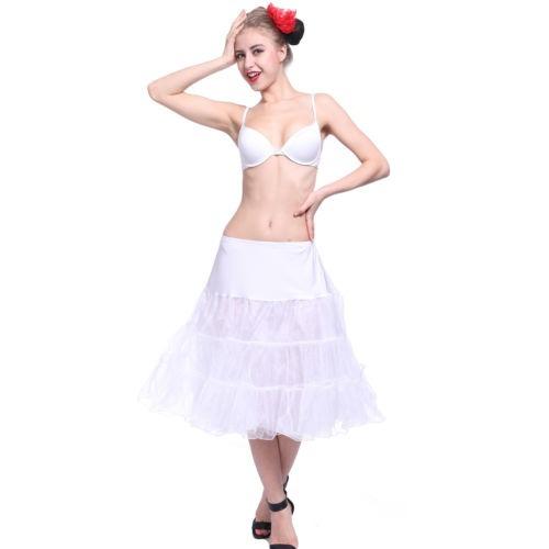 las señoras retro enaguas boda rockabilly falda tutu falda