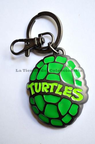 las tortugas ninja llavero de lujo en relieve en acero