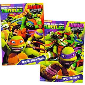 Las Tortugas Ninja Para Colorear Libro Set 2 Tmnt Libros