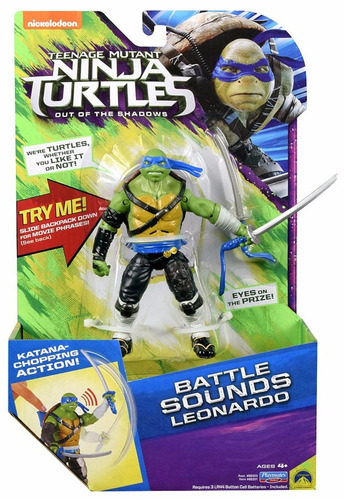 las tortugas ninjas leonardo con frases y sonidos original!!