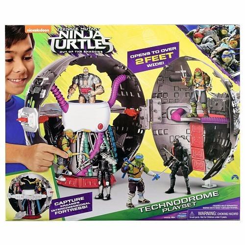 las tortugas ninjas technodrome playset cuartel de villanos!