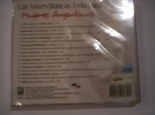 las voces blancas y félix luna: mujeres argentinas - cd nuev