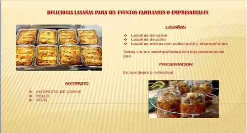 lasagnas para eventos