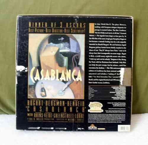 laser disc - casablanca - box - bogart & bergman