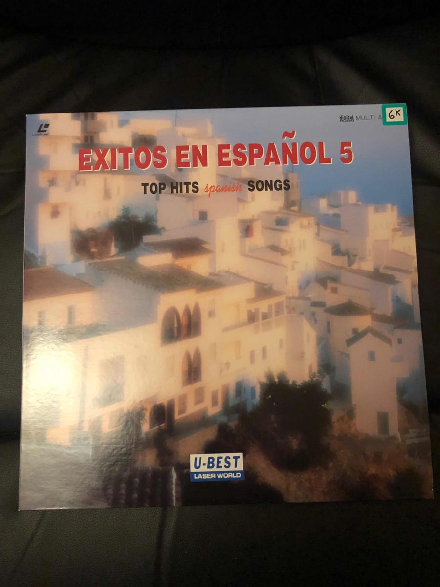 Laser Disc Importado Top Hits Spanish Songs Made In Usa - $ 1 300,00