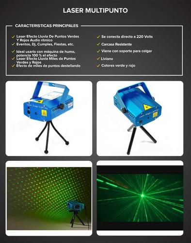 laser lluvia multipunto audioritmico fiestas mar del plata