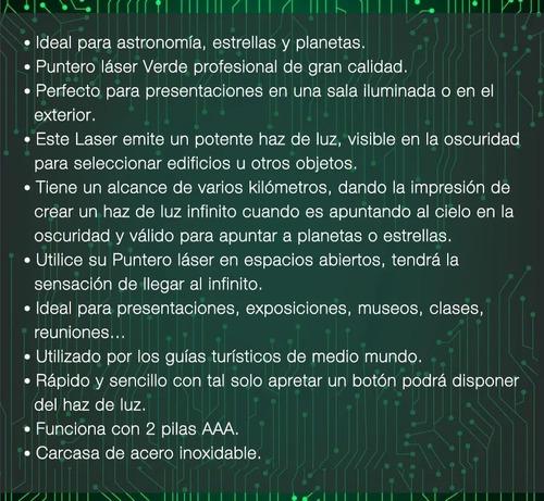 laser puntero verde azul rojo alcance 9km reales máximo ®