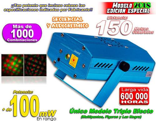 laser rojo verde cubre 150m figuras potentemultiefecto xaris
