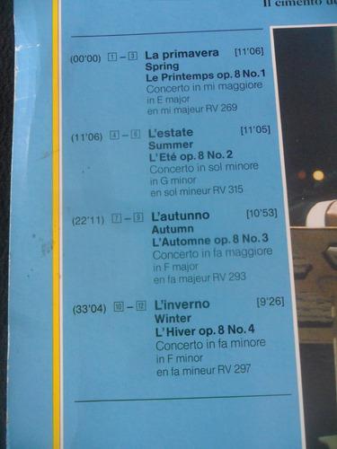 laserdisc antonio vivaldi le quatro stagioni