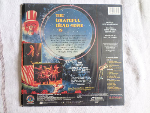 laserdisc duplo - the grateful dead movie (jerry garcia)