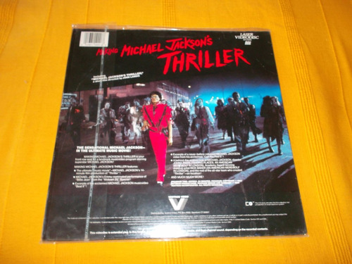 laserdisc making off thriller michael jackson