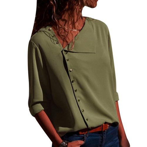 8c67e26852 lasperal casual manga larga mujer blusa camisas 2018 nuevo s. Cargando zoom.