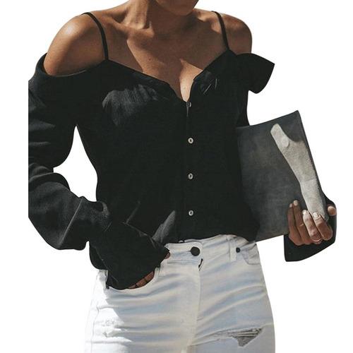 1cb6012a7f lasperal sexy off hombros honda camisa verano moda v cuello. Cargando zoom.