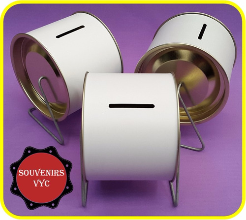 lata alcancia giratoria souvenirs x50 unidades!!!