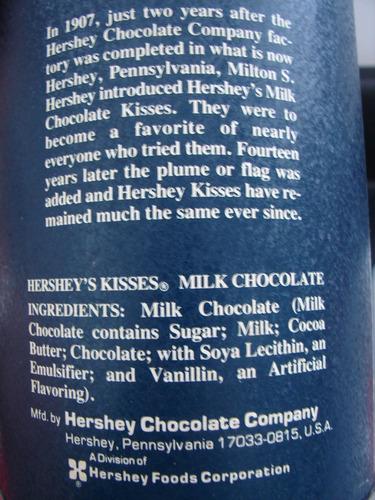 lata americana coleccionable de chocolates kisses