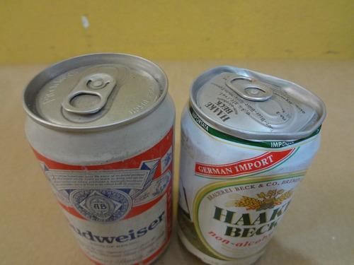 lata antiga de cerveja (par)