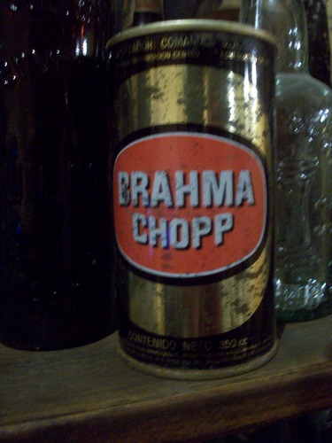 lata antigua cerveza brahma chapa