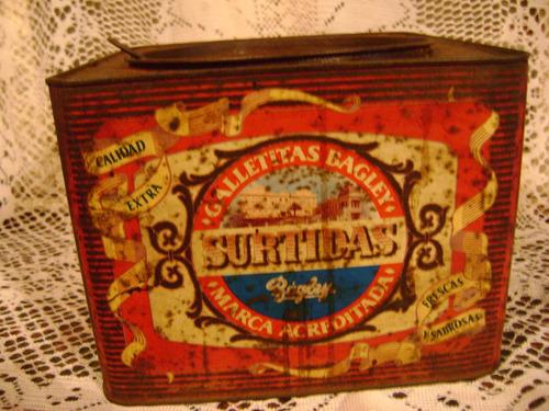 lata antigua de galletitas bagley