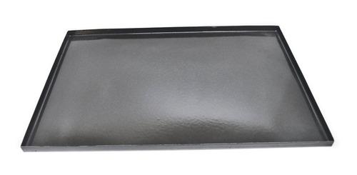 lata asadera bandeja enlozada negra lisa 70 x 45 x 2 cm