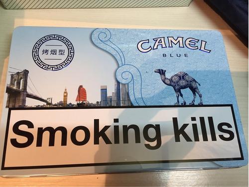 lata camel cigarrillos original importada