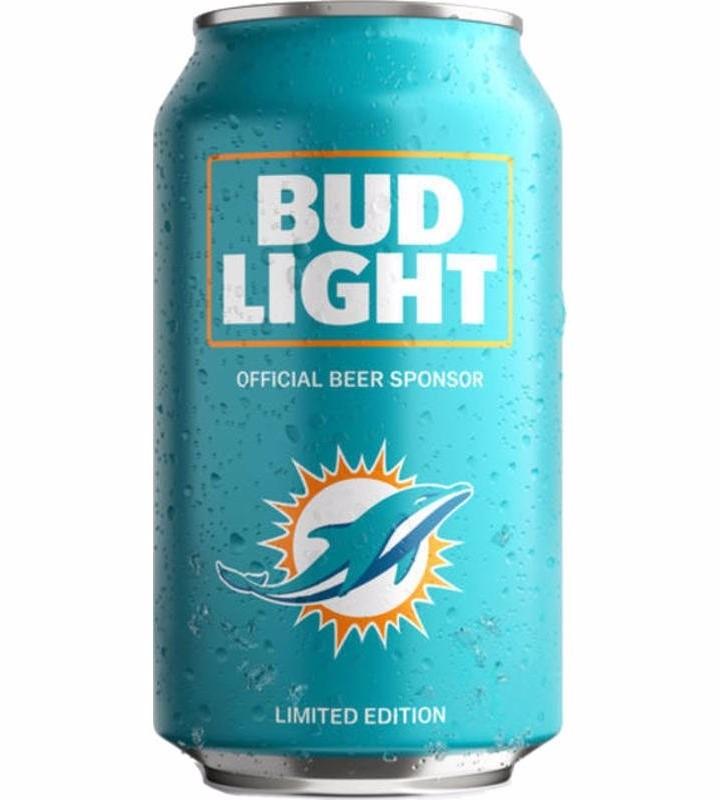 Lata Cerveza Bud Light Miami Dolphins Edición Limitada. Cargando Zoom.