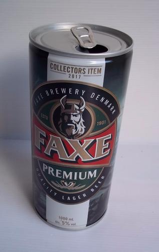 lata cerveza faxe premium edicion collectors item 1lt vacía